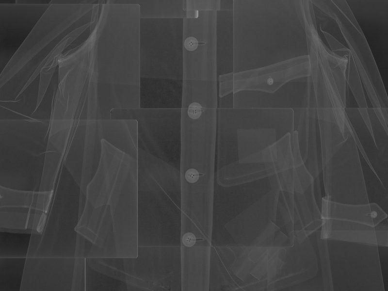 artwork - an image depicting an x-ray of a coat