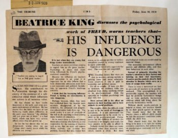 Press cutting - Freud's influence is dangerous