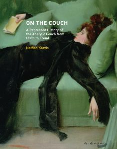 Front cover of 'On the Couch: A Repressed History of the Analytic Couch from Plato to Freud' by Nathan Kravis, features a painting of a woman reclining on a couch.