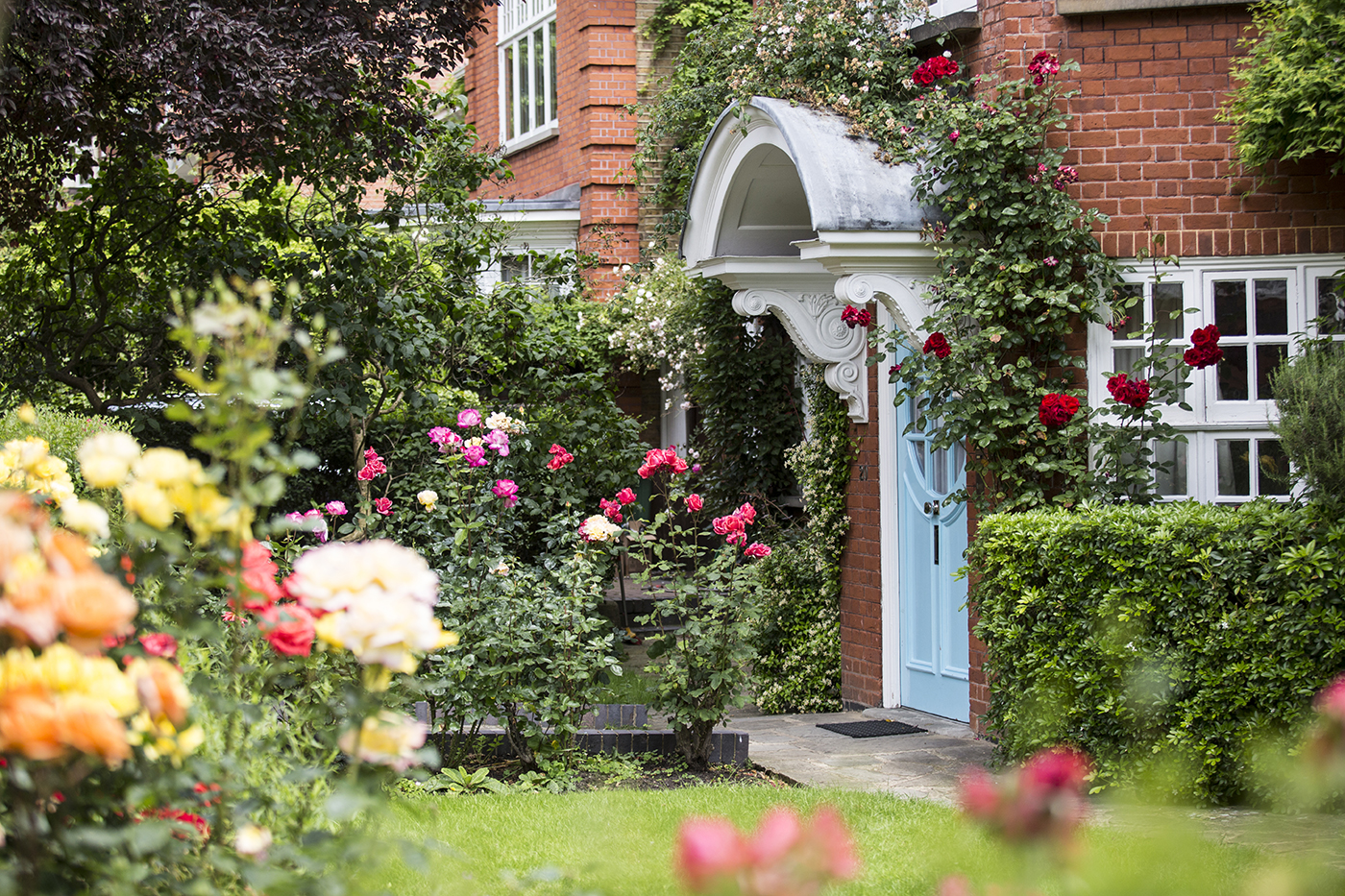 Photograph of front door and garden at Freud Museum