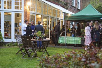 Outdoor dinners and receptions. Private Hire at the Freud Museum London