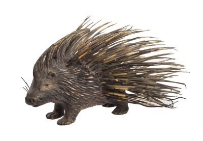 Metal porcupine figure, 20th century