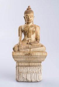 Ivory statuette of Buddha, c. 1700