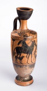 Athenian Black-figured Lekythos, Greek, Archaic Period