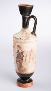 Athenian White-ground Lekythos, Greek, Classical Period