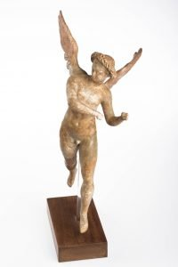 3880: Figure of Eros, Greek, Hellenistic Period Myrina, 150-100 BC