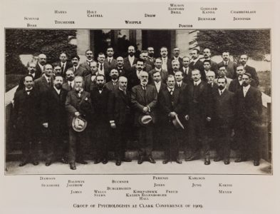 Image of group at Clark University, 1909