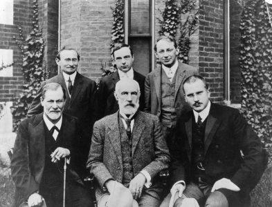 Image of Sigmund Freud, A. A. Brill, Ernest Jones, Sandor Ferenczi, Carl