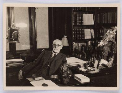 Sigmund Freud in his study in Berggasse 19, Vienna, 1938 © Freud Museum London