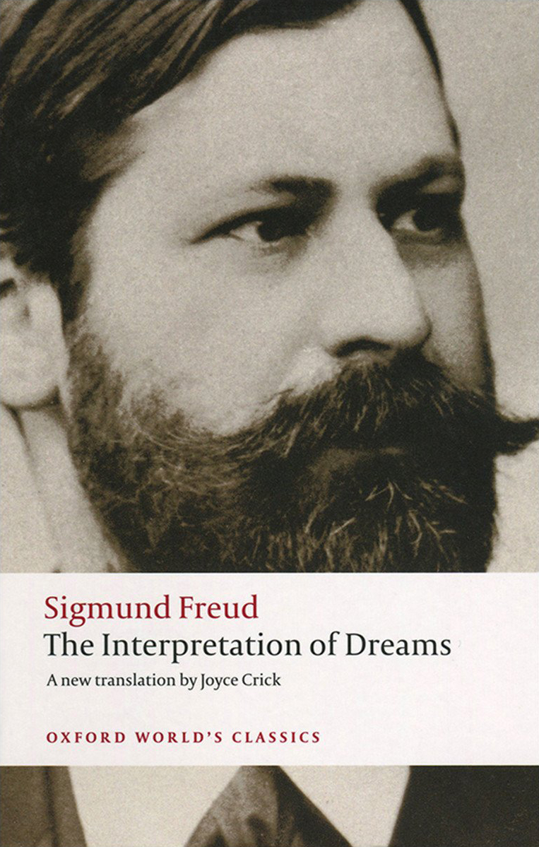 Cover of book which details book title and a black and white photograph of Sigmund Freud