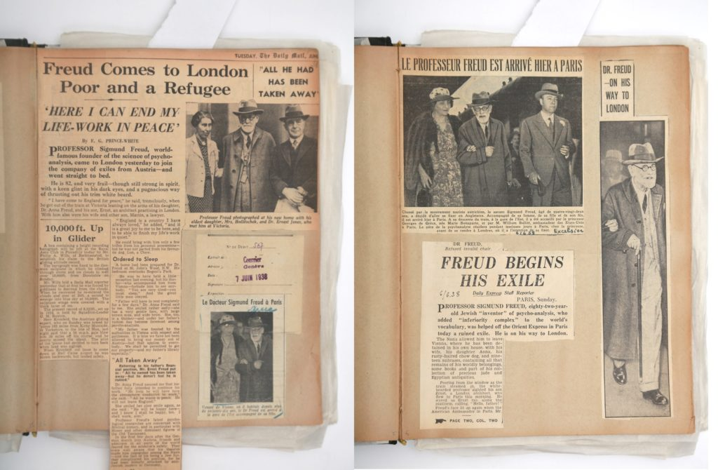 Leaving Today: the Freuds in Exile 1938