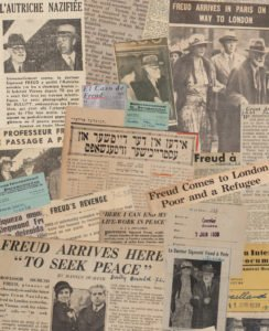 Newspaper Collage, Freuds' Arrival, Freud Museum