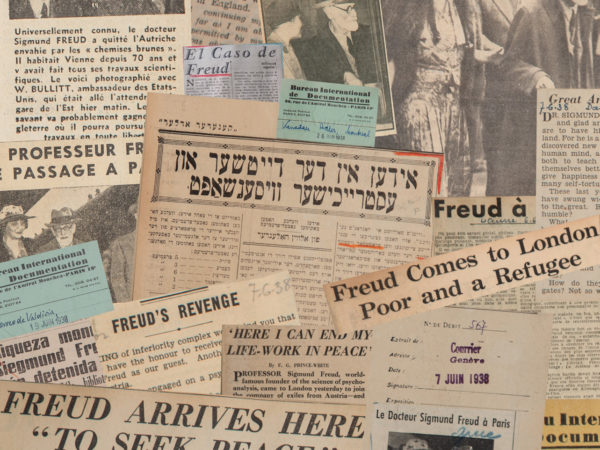 Newspaper Collage, Freuds' Arrival, Freud Museum