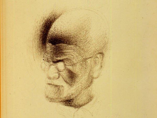Sketch of Sigmund Freud by Salvador Dalí