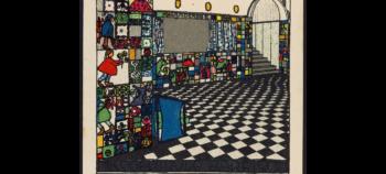Kabarett Fledermaus interior, Josef Hoffmann, 1907, Theatermuseum, Vienna