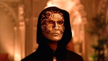 Tom Cruise in mask in Kubrick, Eyes Wide Shut, 1999,