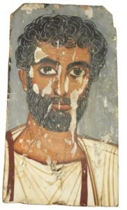 Fayum mummy portrait of man with beard, c.250 AD – 300 AD