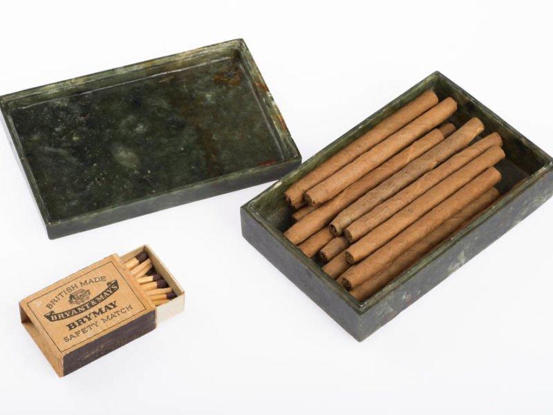 Cigar box and matches