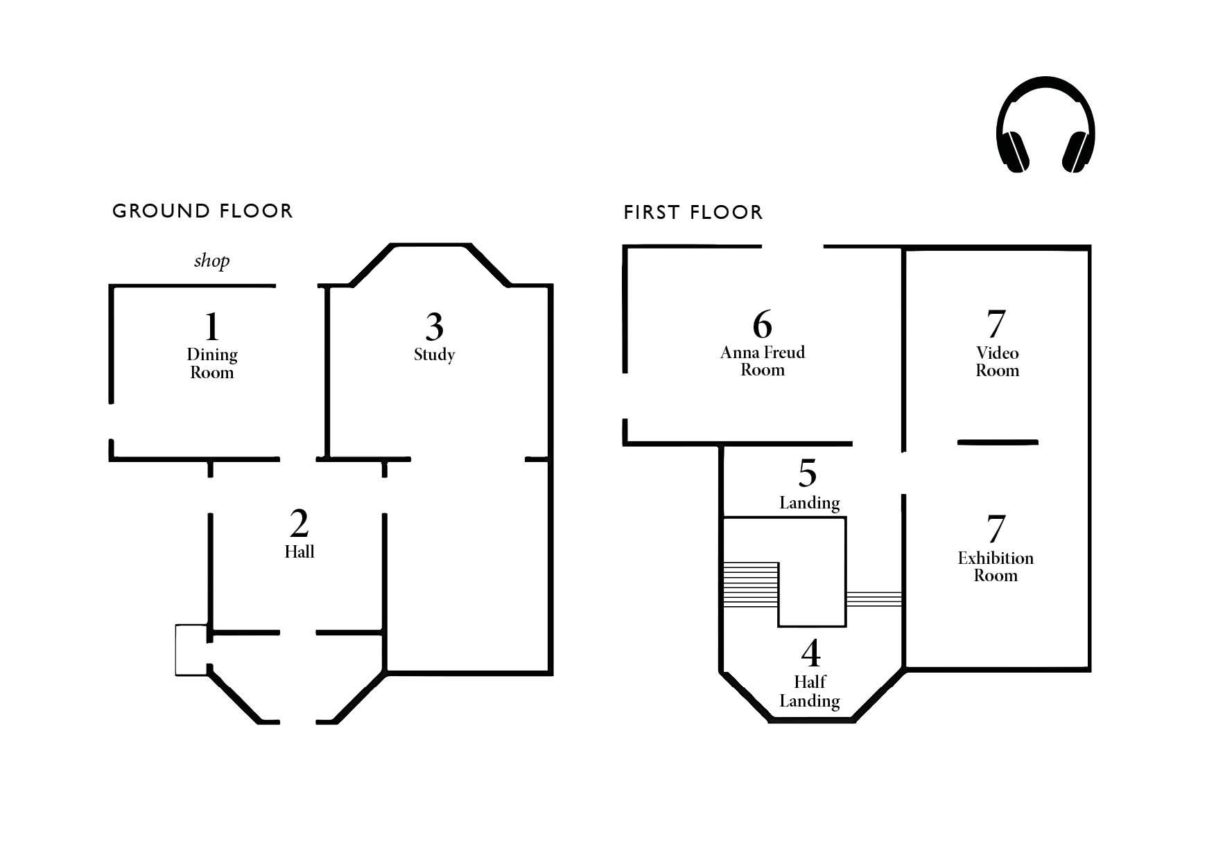 Freud Museum Audio Guide Floor Map