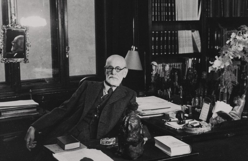 'Zoom Psychoanalysis' in Old Vienna - Sigmund Freud in his study in Berggasse 19, Vienna, 1938 © Freud Museum London